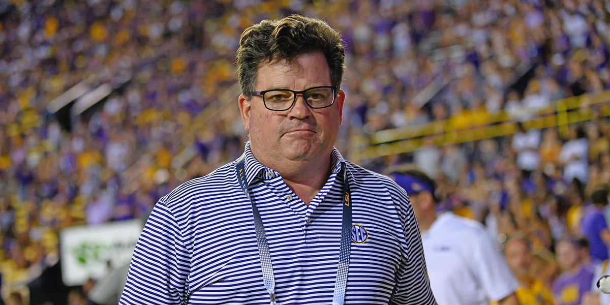 LSU A.D. Scott Woodward preparing for June return and 12-game football season