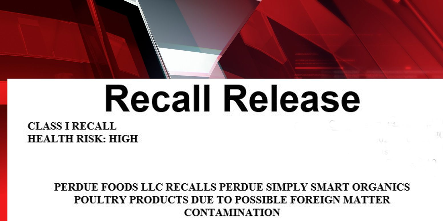 Perdue recalls 31,703 pounds of meat