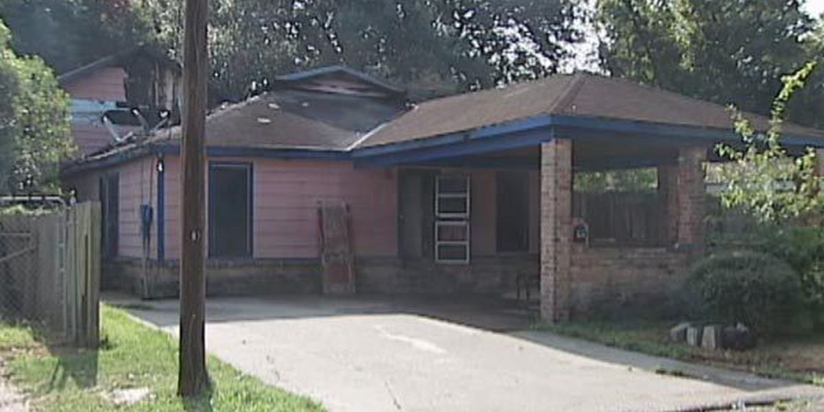 House where shooting death victim was found caught fire