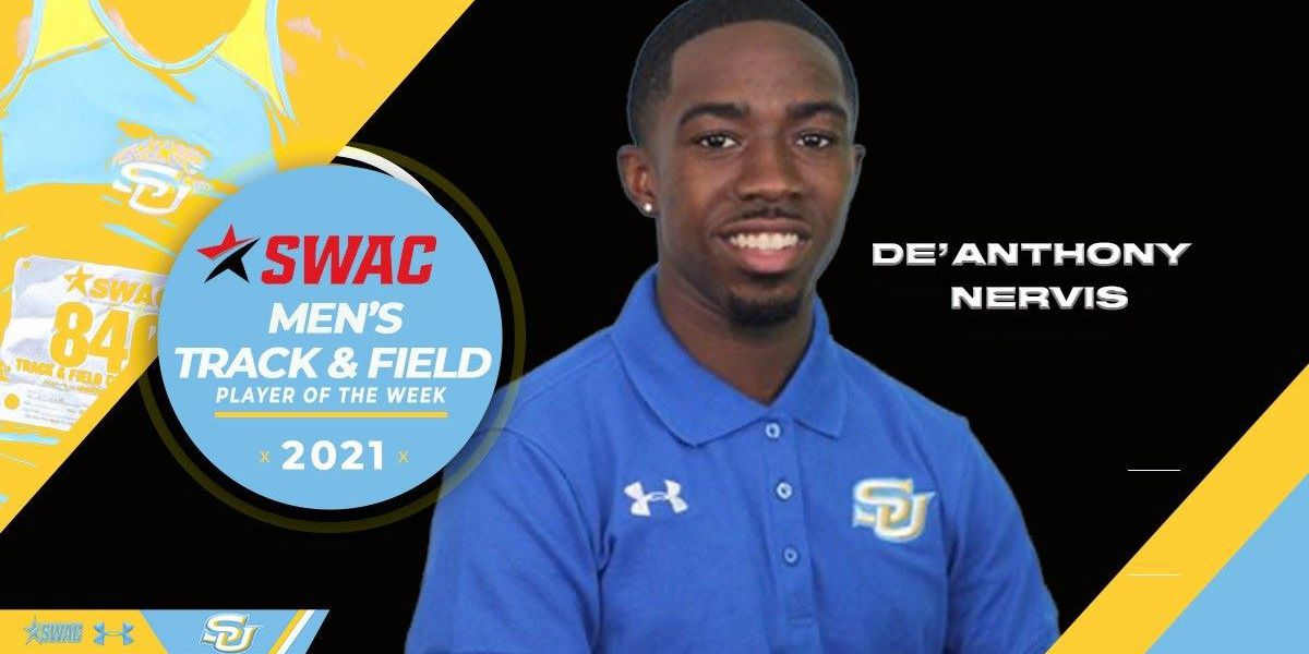 Southern's De'Anthony Nervis named SWAC Men's Track Athlete of the Week
