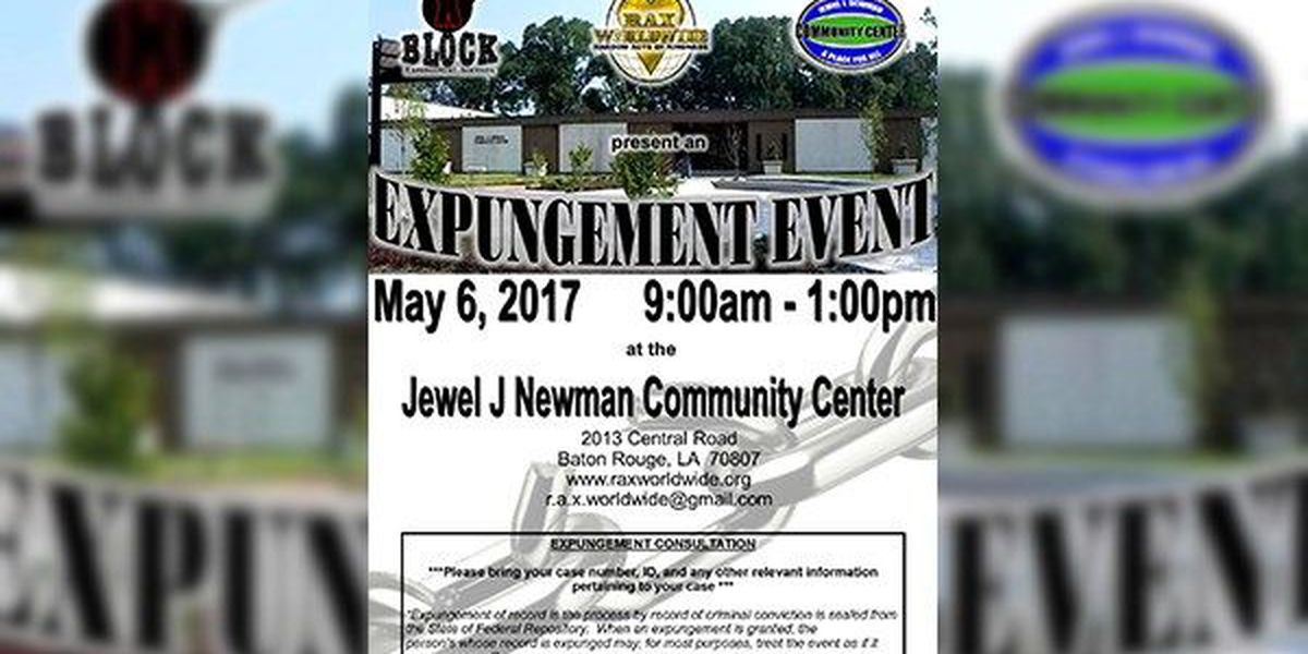 Those with criminal records can have them expunged at upcoming event