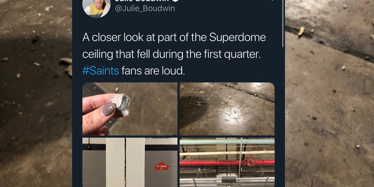 PHOTOS: Saints fans cheer so loudly, pieces fall from Superdome ceiling