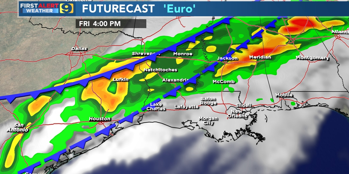 FIRST ALERT FORECAST: Springs starts Thurs.; Friday and Saturday look wet