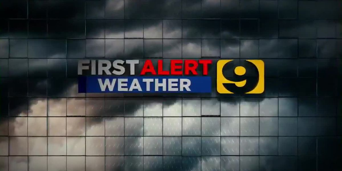 FIRST ALERT FORECAST: Cool front expected to arrive Tuesday, along with higher rain chances