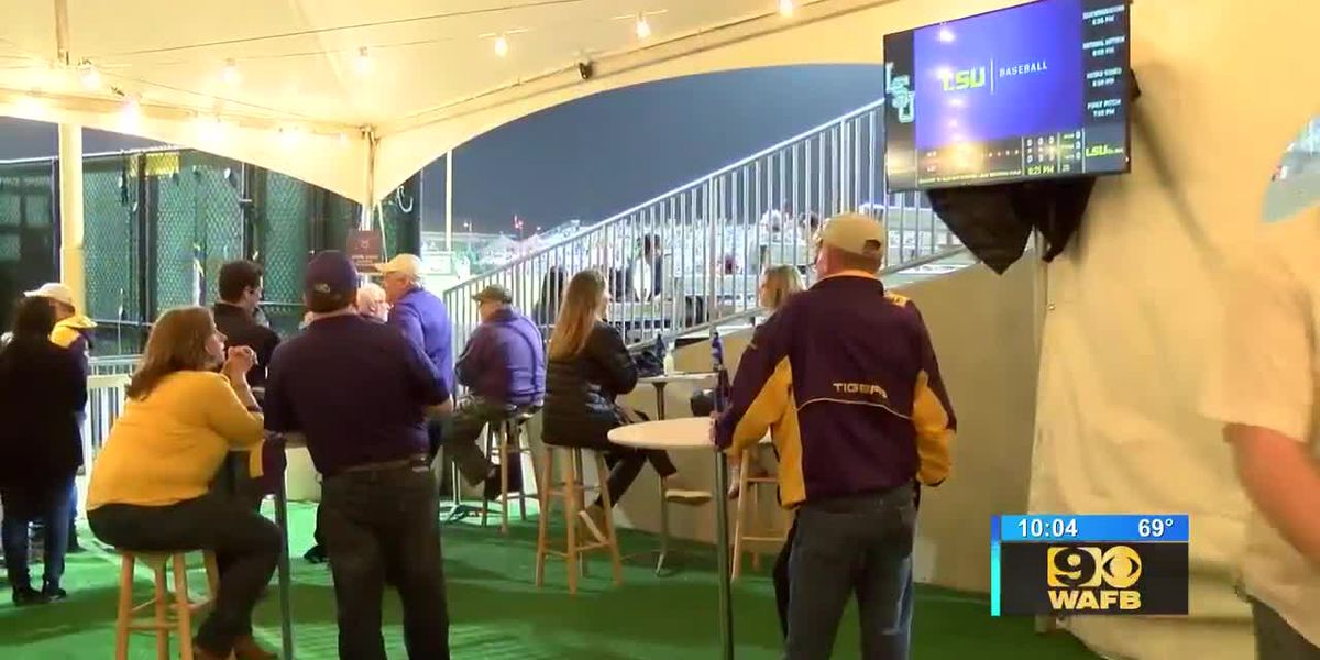 LSU baseball fans enjoy new drinking area at Alex Box Stadium