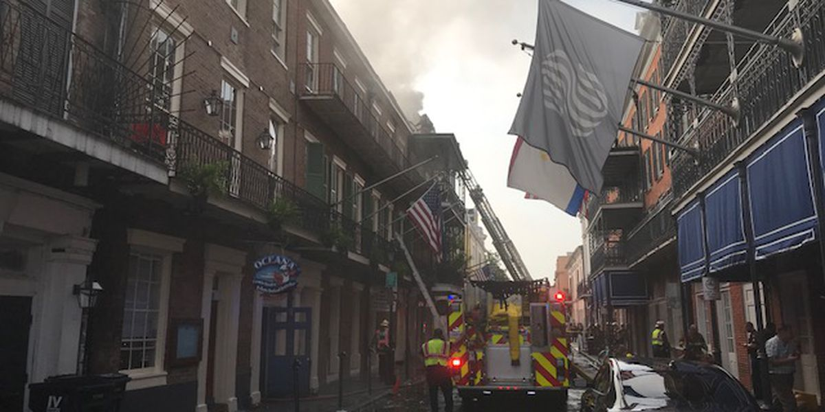 Olde N'Awlins Cookery restaurant fire grows to 5-alarms in French Quarter