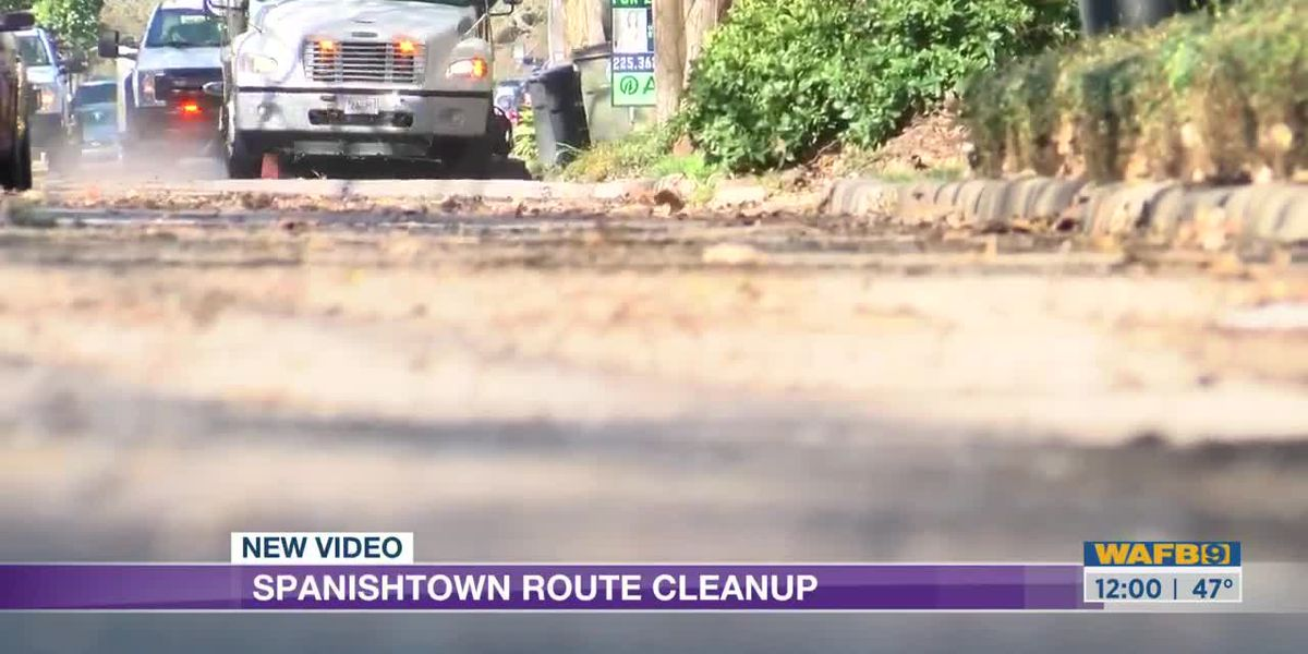 Crews clean up route for Spanish Town parade