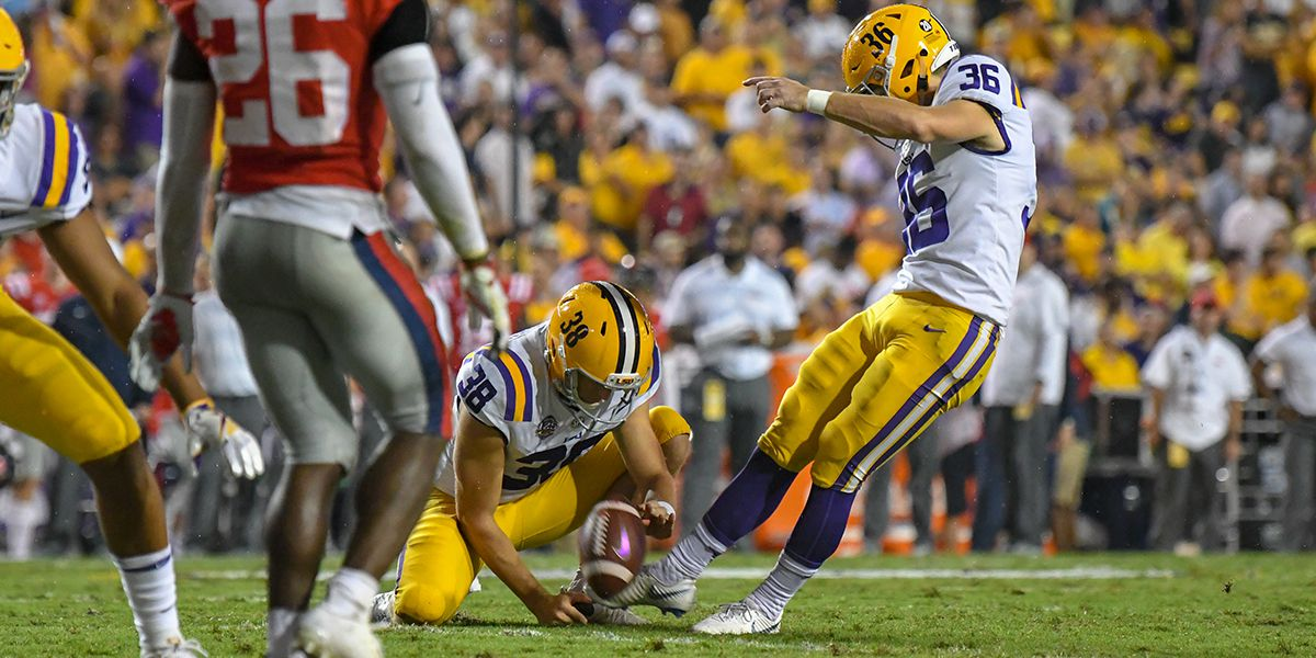 Orgeron: Freshman kicker Cade York shows lot of same promise seen in Cole Tracy