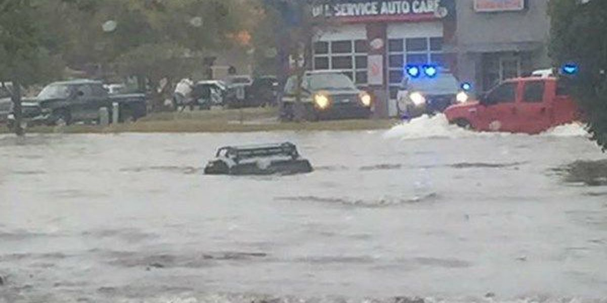 Storms causing flooding in Lafayette after dropping almost 6 inches of rain
