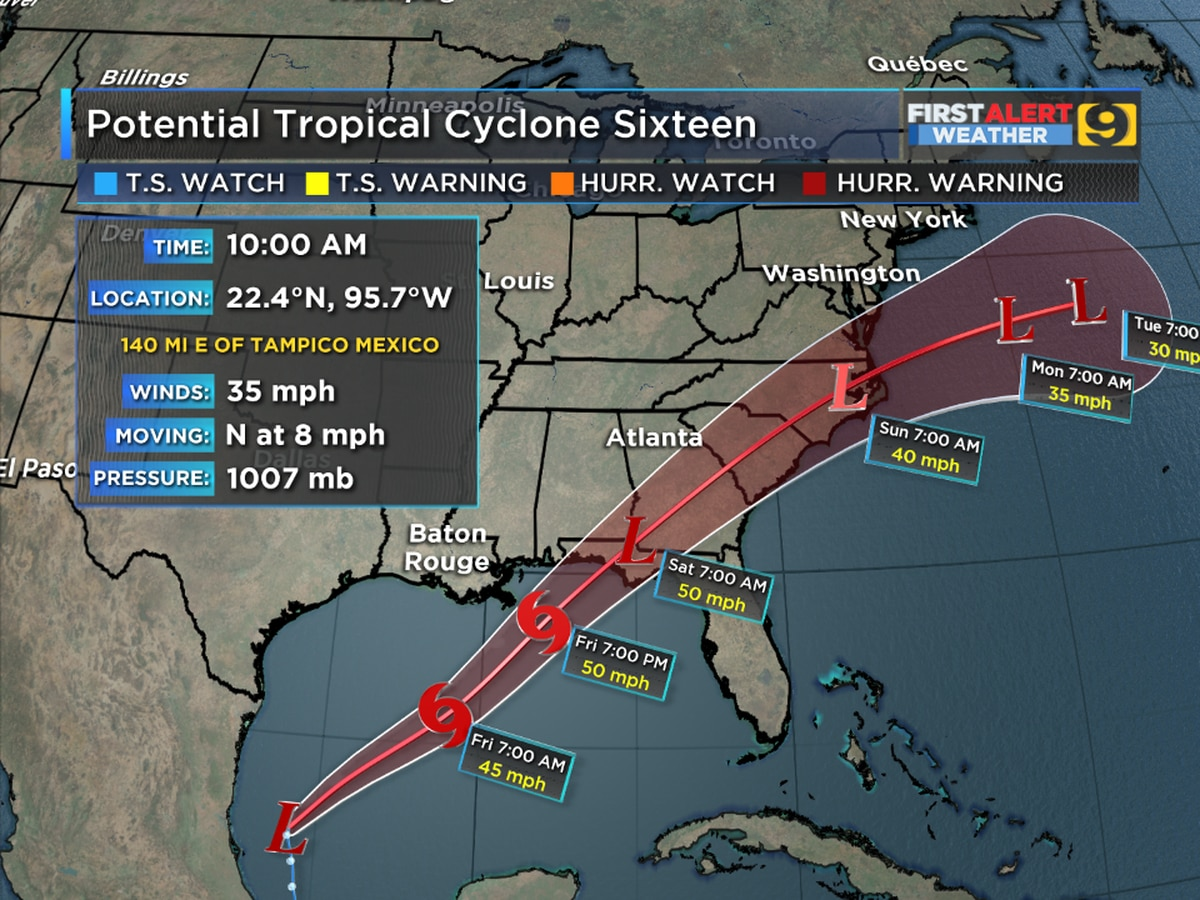 Tropical Storm Nestor expected to form in Gulf Thursday