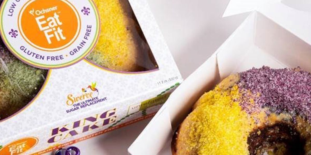 Stick to your New Year's diet even during Mardi Gras season with this low carb, gluten free, dairy free king cake