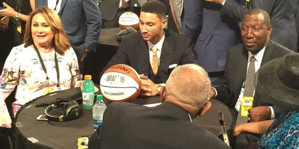 LSU's Ben Simmons drafted by Philadelphia 76ers as No. 1 overall pick