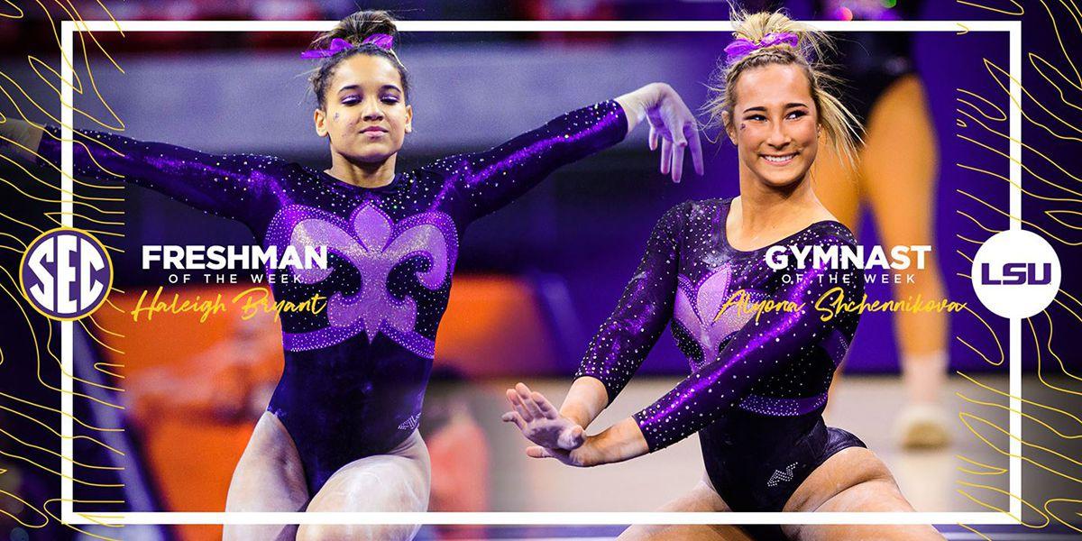 LSU's Shchennikova, Bryant earn SEC Gymnasts of the Week honors