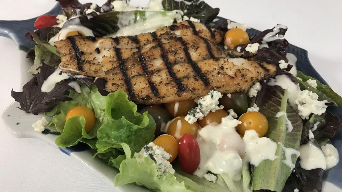 Grilled Catfish Salad