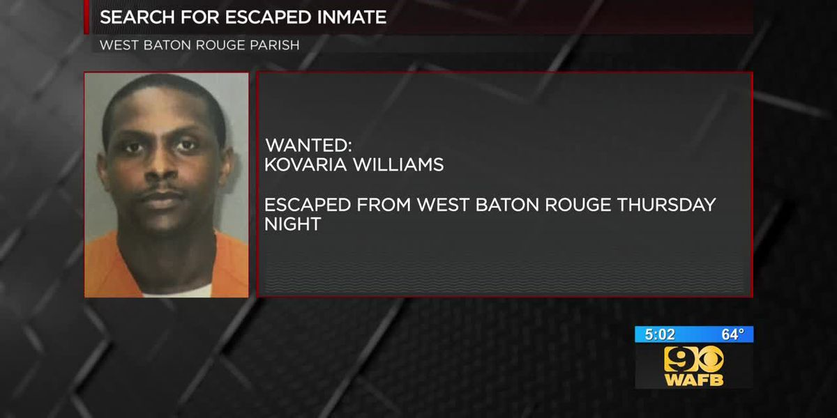 Search for escaped inmate
