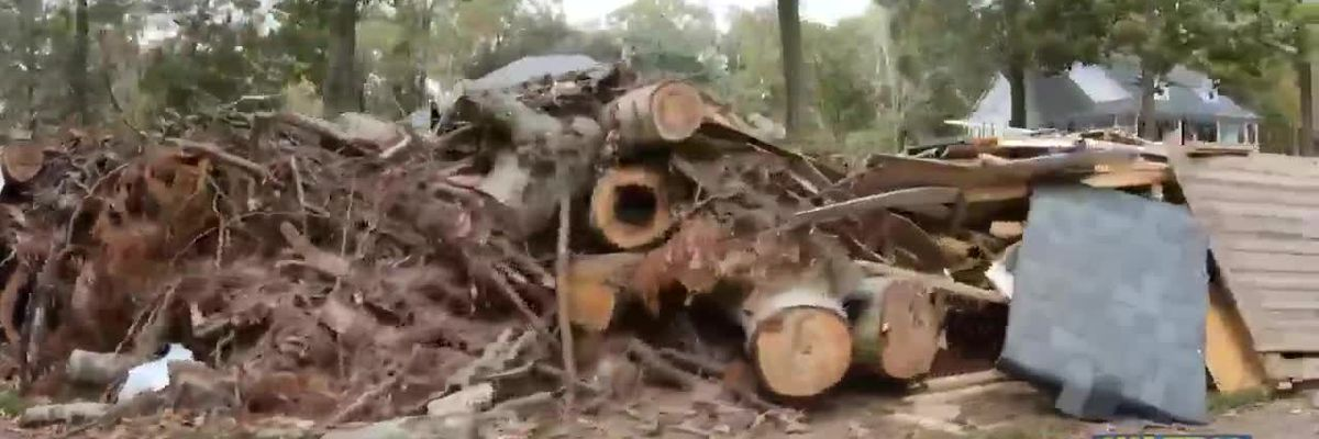Storm debris from Hurricane Delta lingers in some EBR neighborhoods a month after landfall