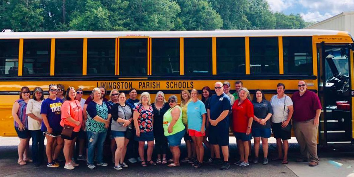 Livingston Parish rolls out 22 new buses to replace those damaged in 2016 flood