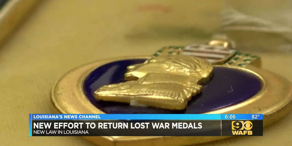 New effort to return lost war medals