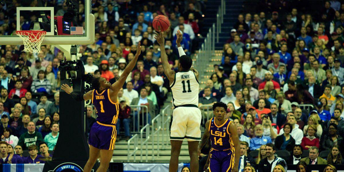 LSU falls to Michigan St. in Sweet 16 of NCAA Tournament