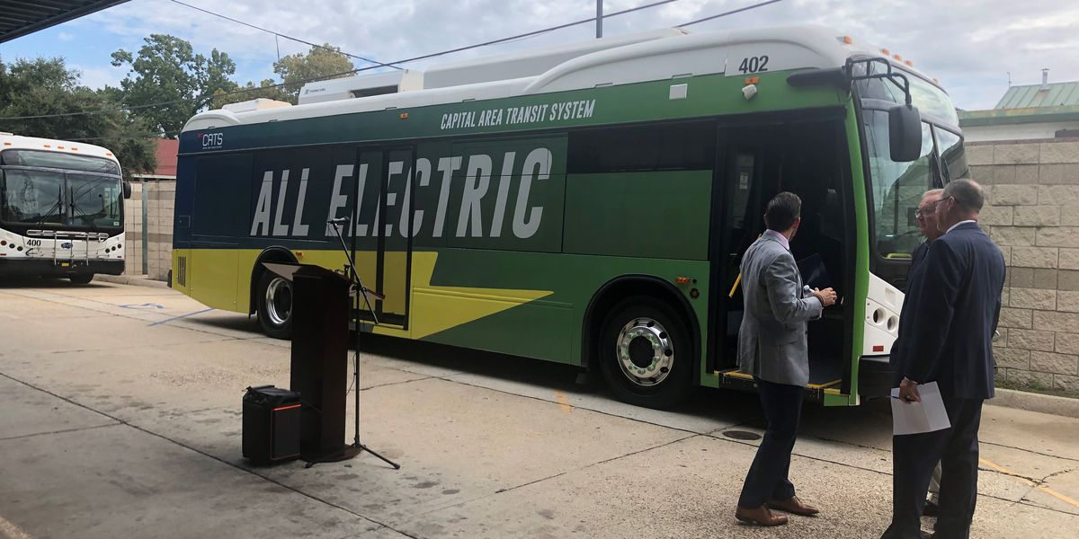 CATS unveils first of three electric buses into service