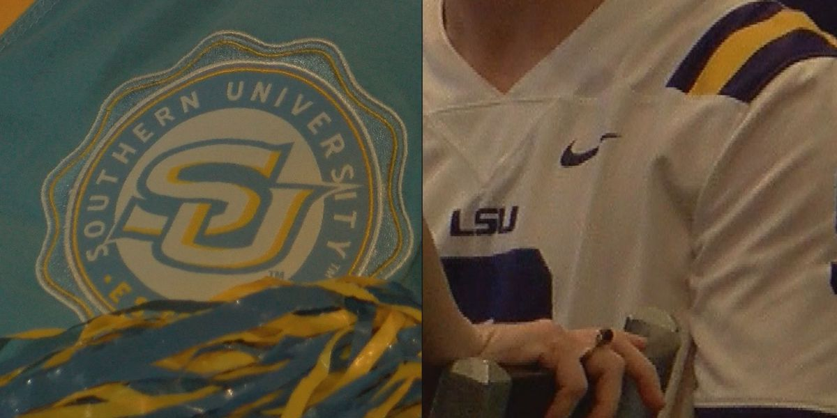 LSU Tiger and Southern Jag fans celebrate busy college football weekend