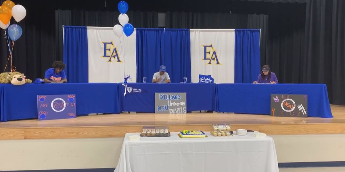 East Ascension basketball players sign scholarships