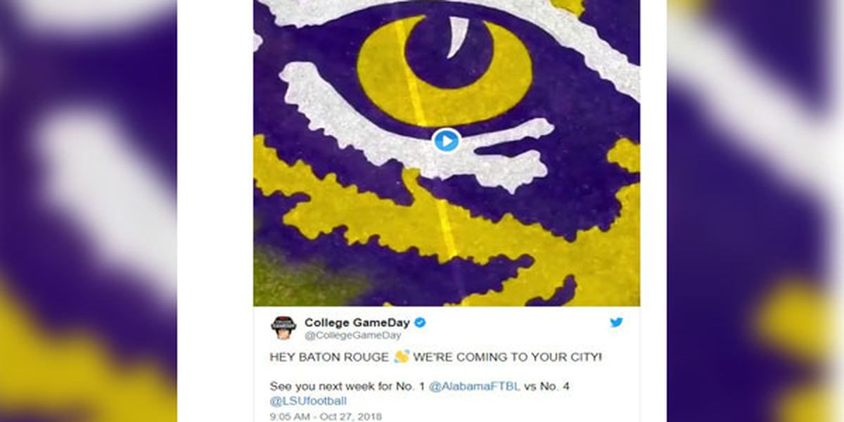 ESPN's 'College GameDay' coming to Baton Rouge for LSU vs. Alabama game