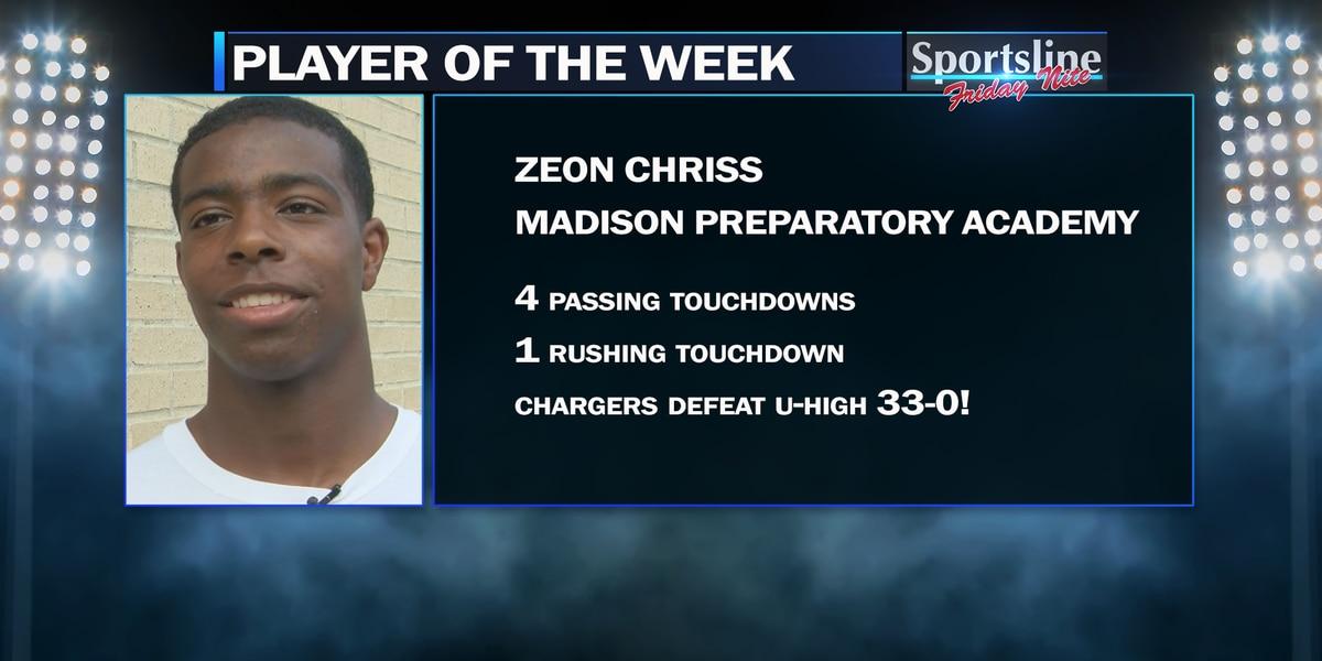 Sportsline Player of the Week: Madison Prep QB Zeon Chriss (Week 8)