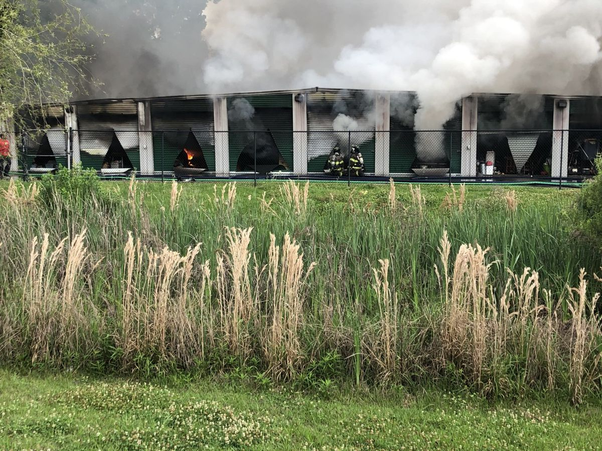 50 storage units destroyed by Tuesday morning fire