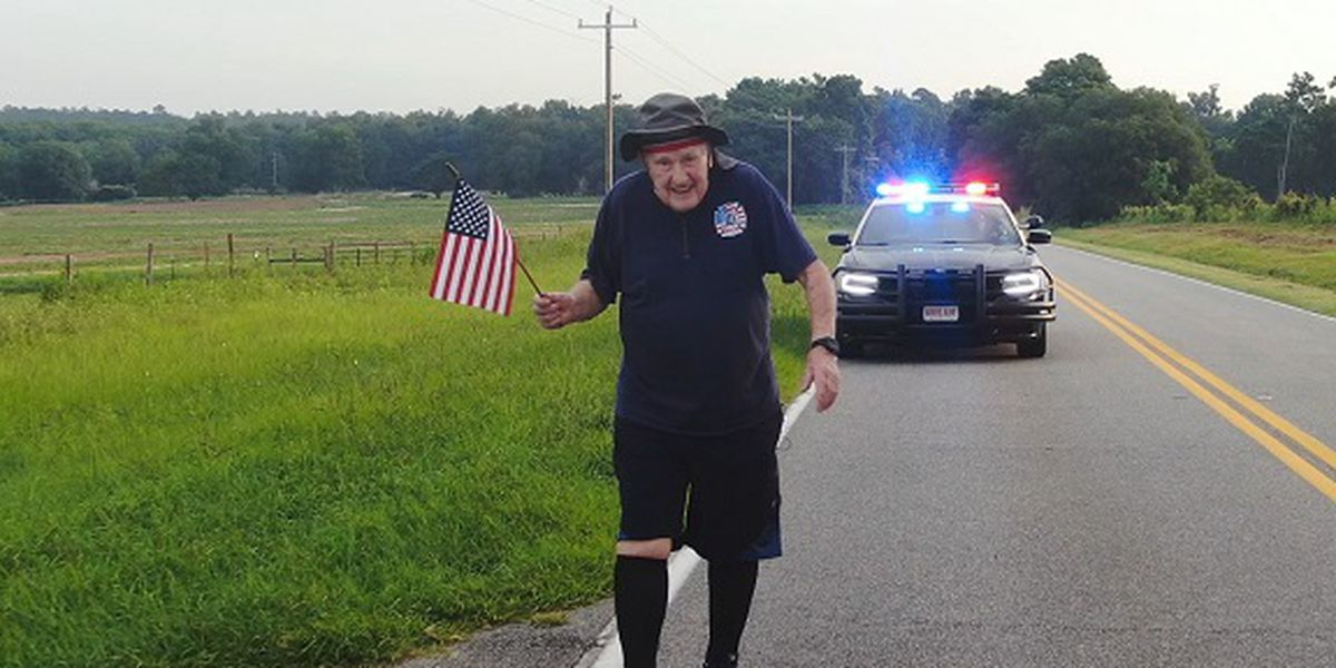 WWII Veteran walking across America from Georgia to California