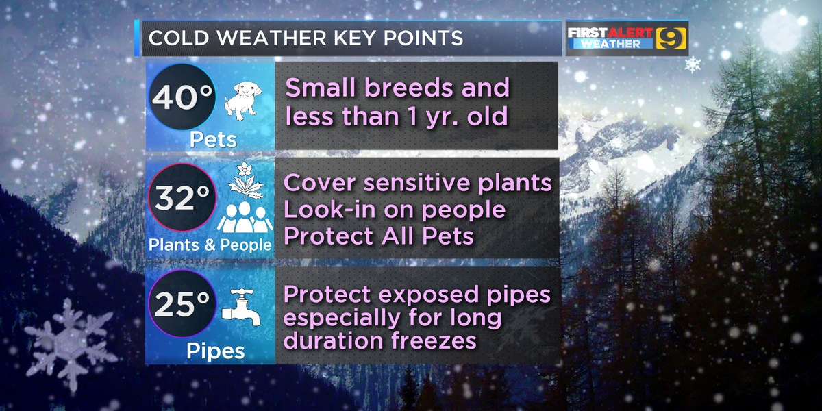 FIRST ALERT FORECAST: Winter temps will escape as storm system moves in
