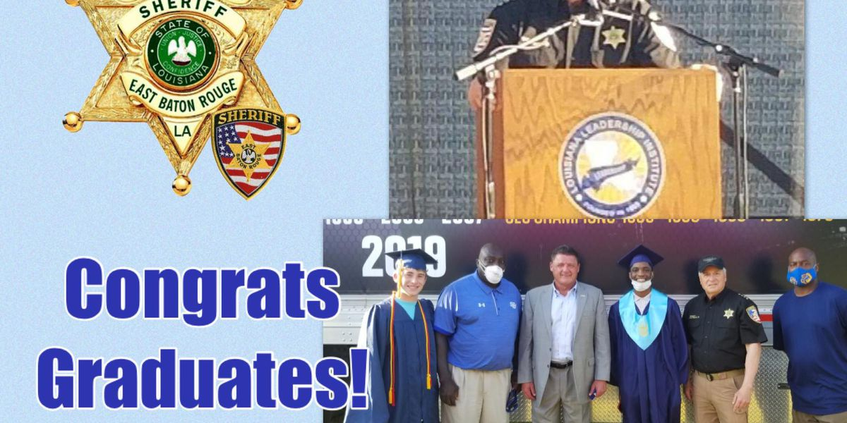 Coach O serves as guest speaker at special ceremony for EBR graduates