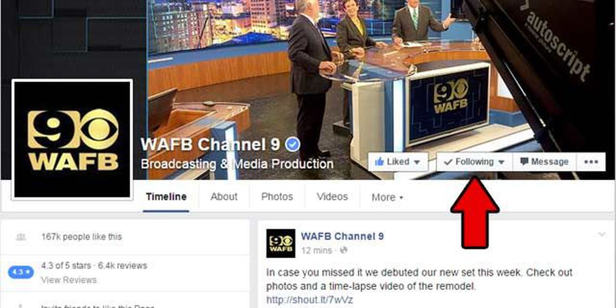How to prioritize WAFB on your Facebook feed