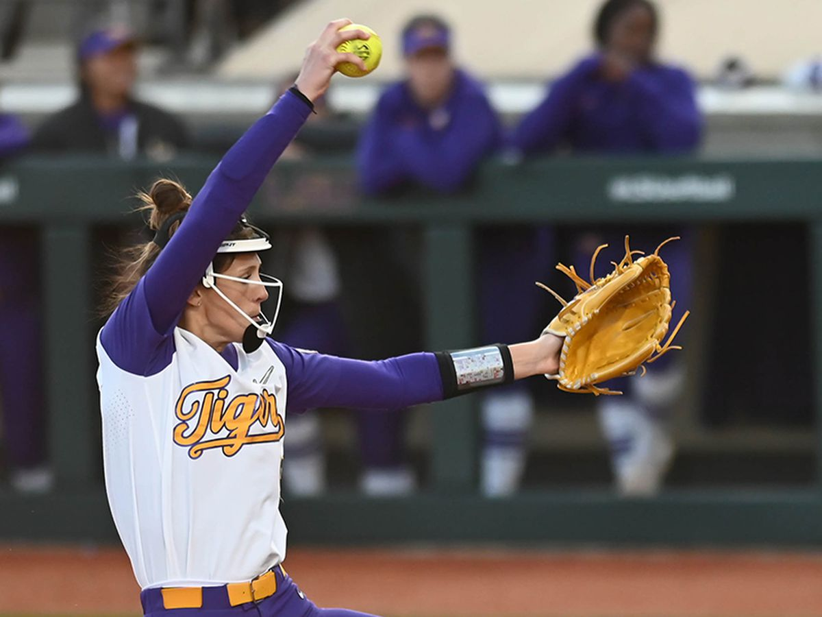 Gorsuch pitches perfect game on final day of Purple & Gold Challenge; No. 6 LSU sweeps Sam Houston, Belmont