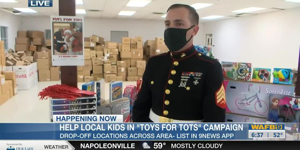 Donate new, unwrapped to Toys for Tots-6:30am