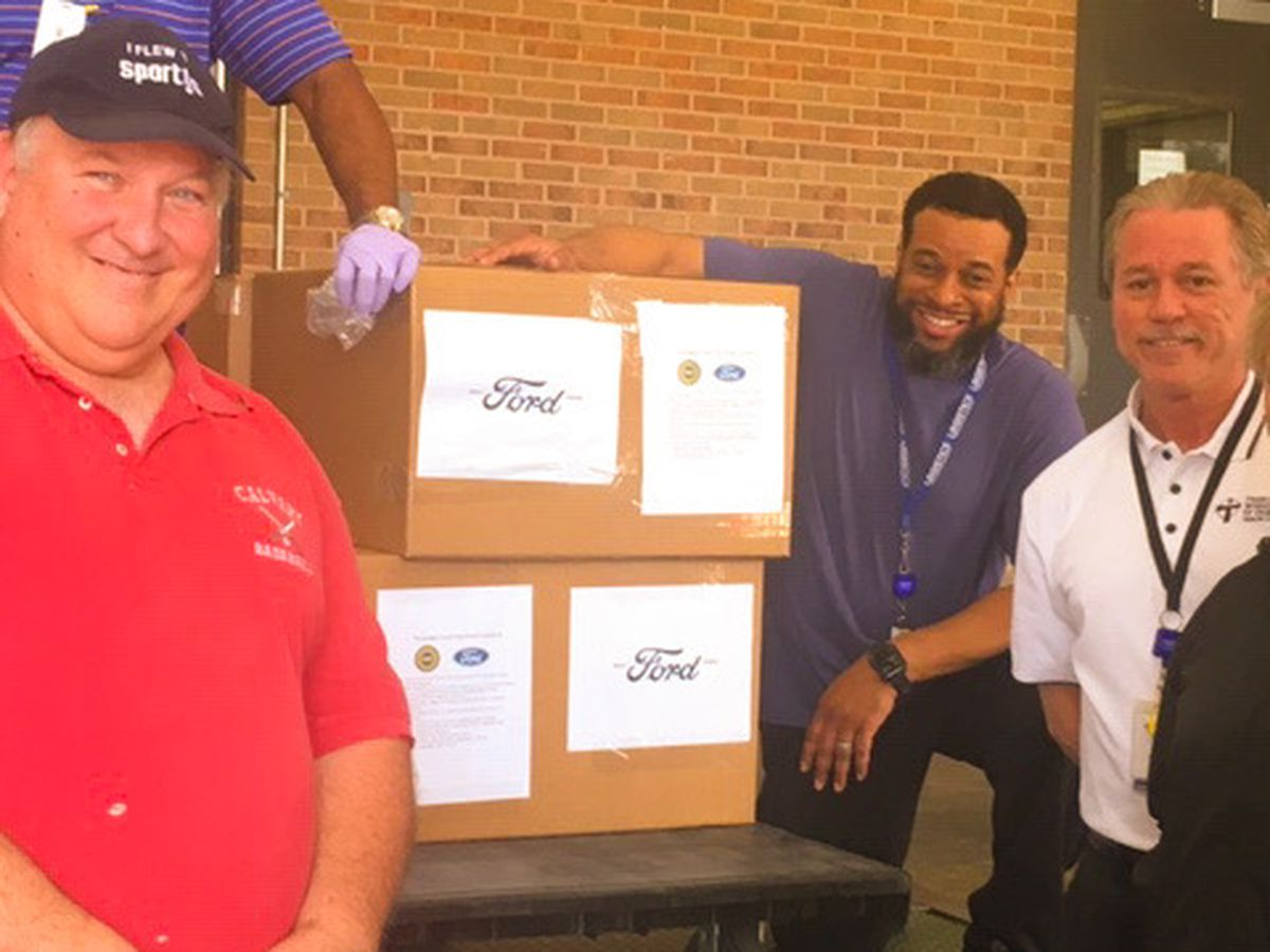 Ford donates face shields to OLOL Medical Center