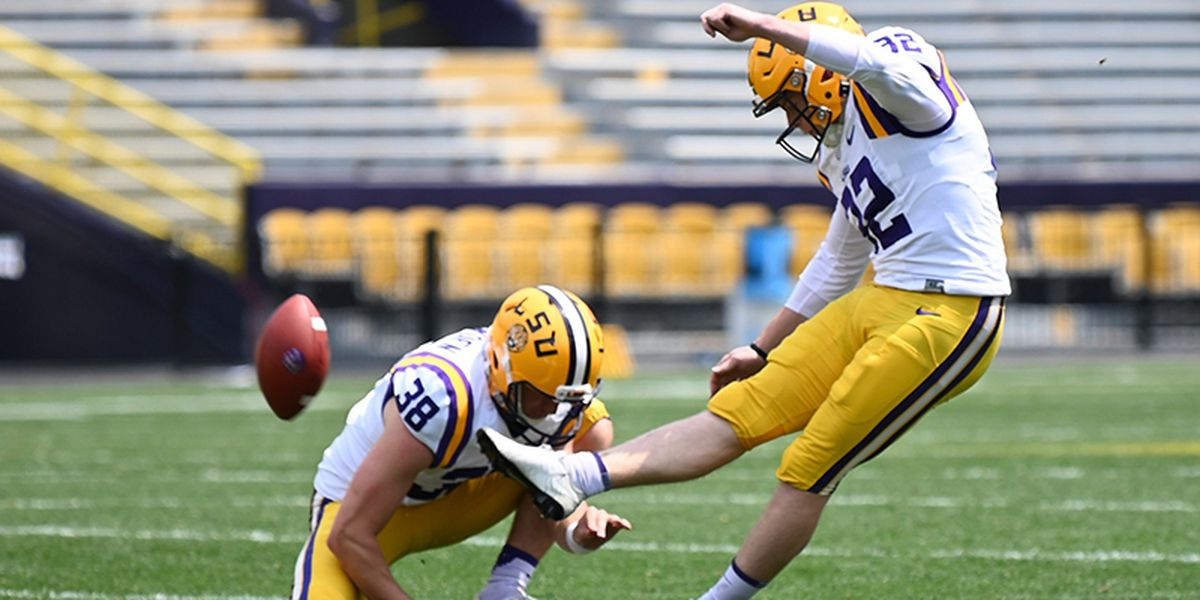 LSU focuses on kickoffs with Avery Atkins but works with him on field goals as well