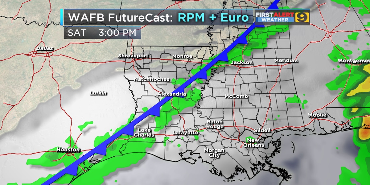FIRST ALERT FORECAST: Warm, muggy conditions continue; rain expected Saturday