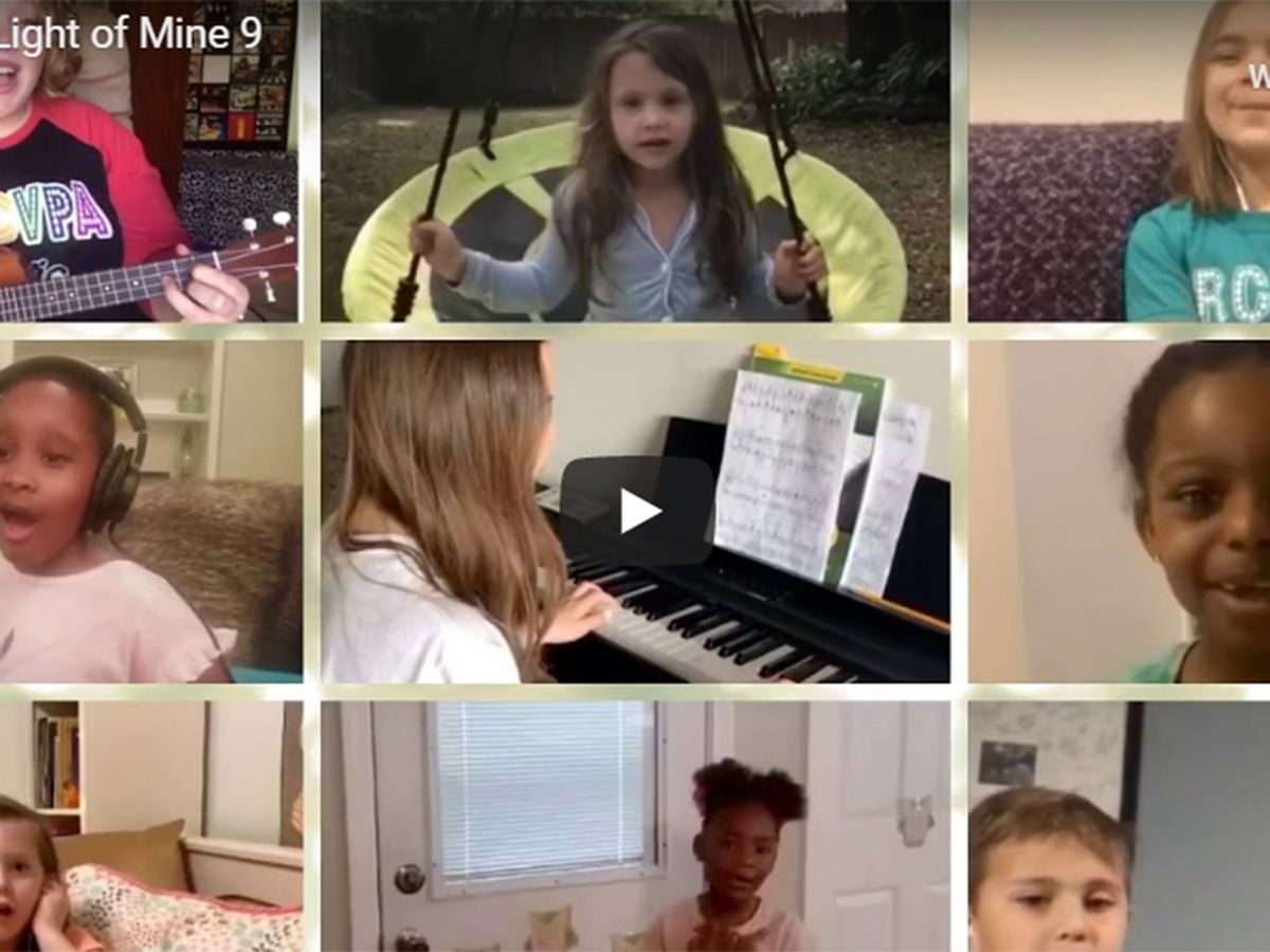 Music teacher creates virtual song with students at time when a 'Little Light' is needed
