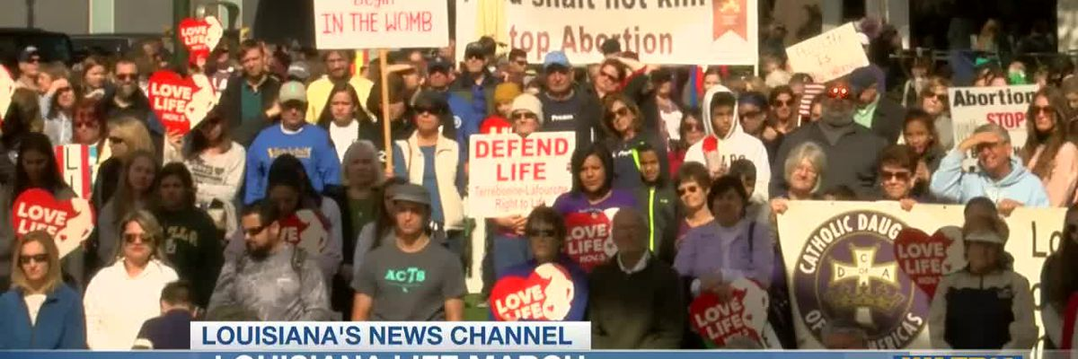 Louisianans participate in Life March South in Baton Rouge