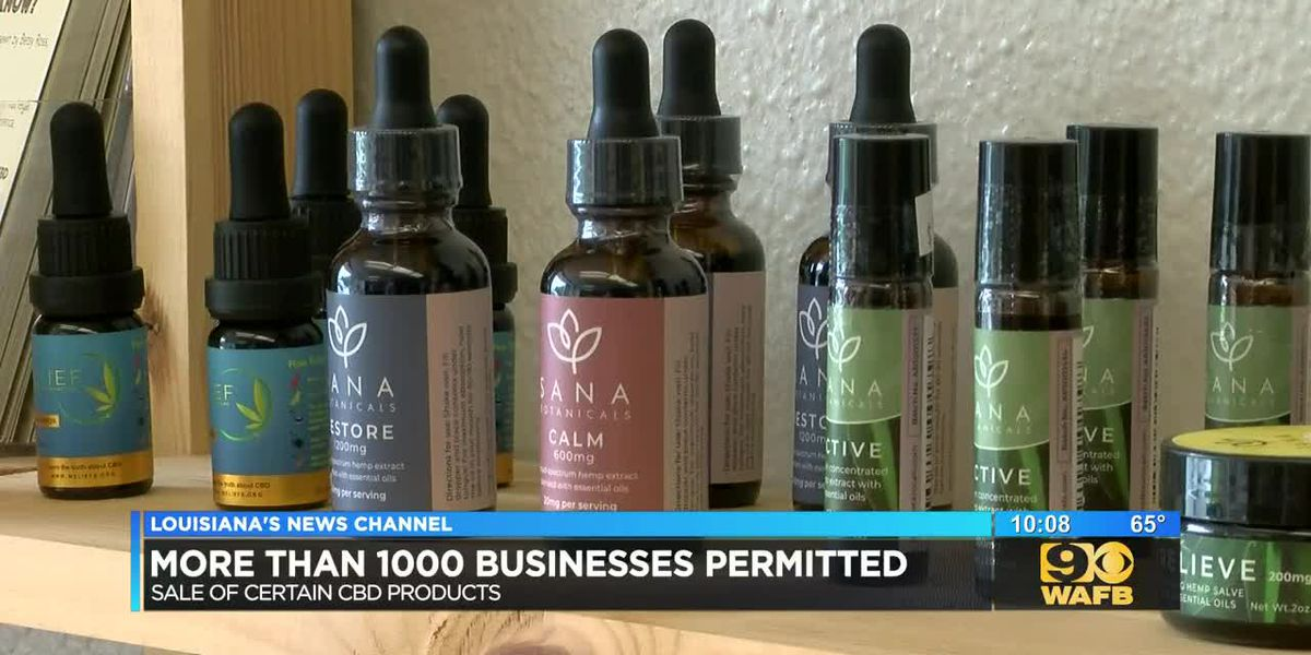Over 1000 businesses permitted to sell CBD products