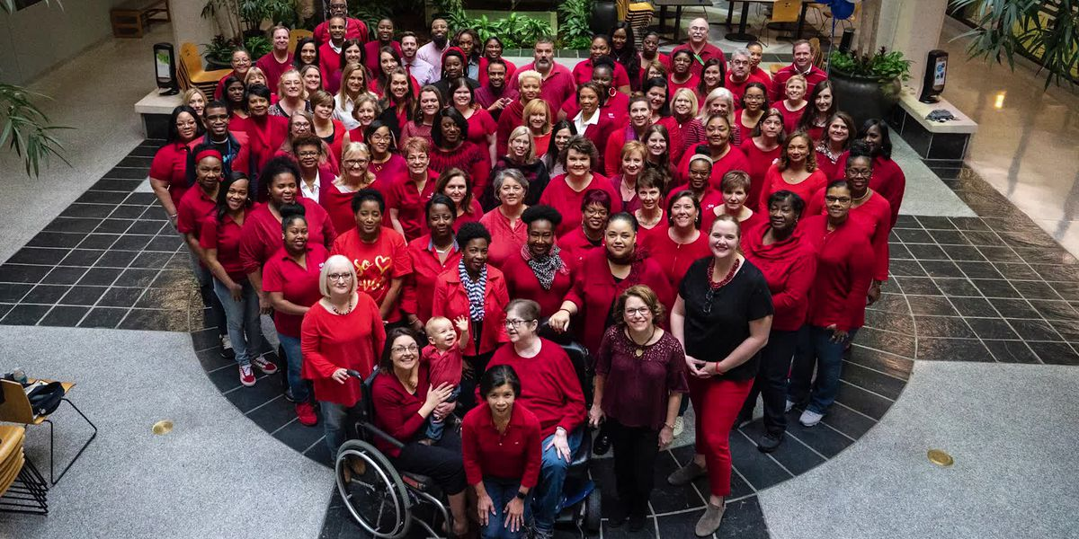 Blue Cross employees participate in Wear Red Day