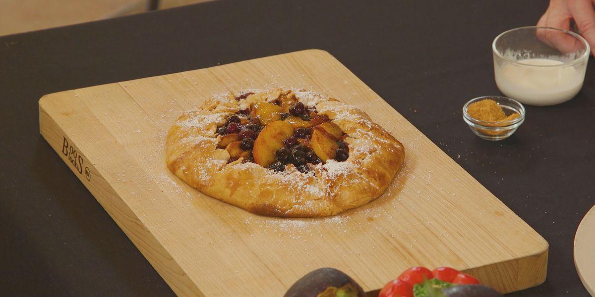 Peach and Blueberry Crostata