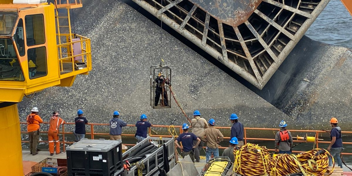 Salvage crews begin removing fuel from Seacor Power vessel