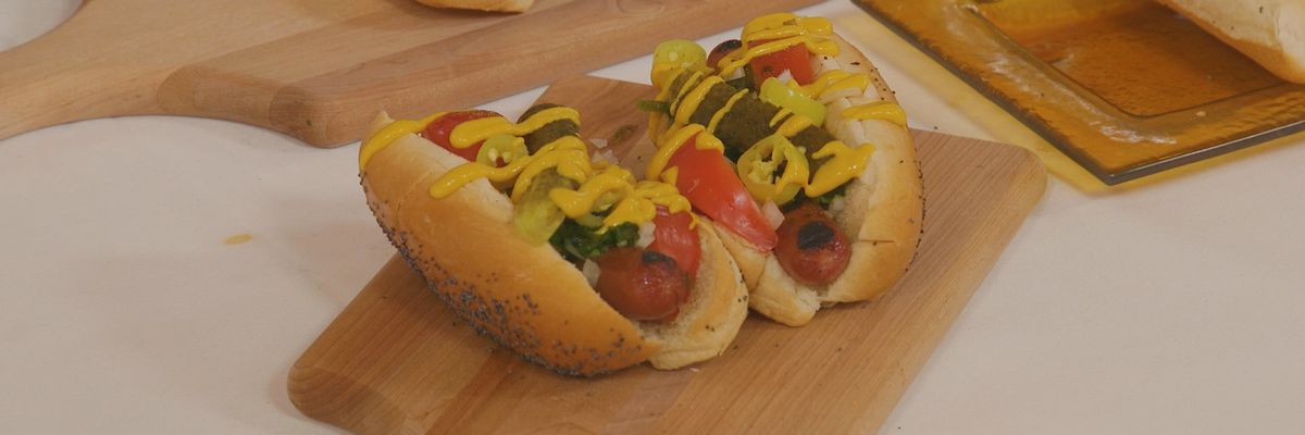 The Official Assembly of a Traditional Chicago-Style Hot Dog