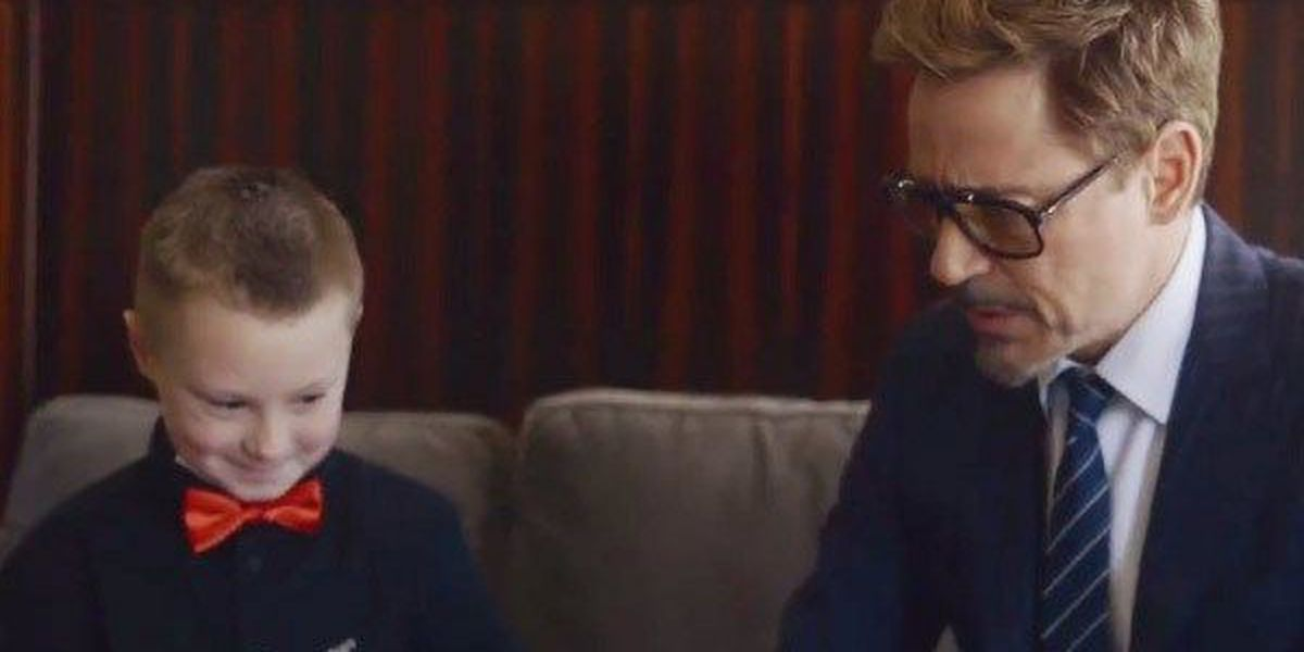 VIDEO: Robert Downey Jr. presents bionic Iron Man arm to child born with underdeveloped arm
