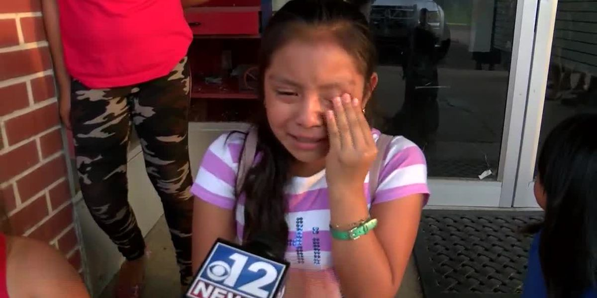 Crying children left without parents after ICE raids