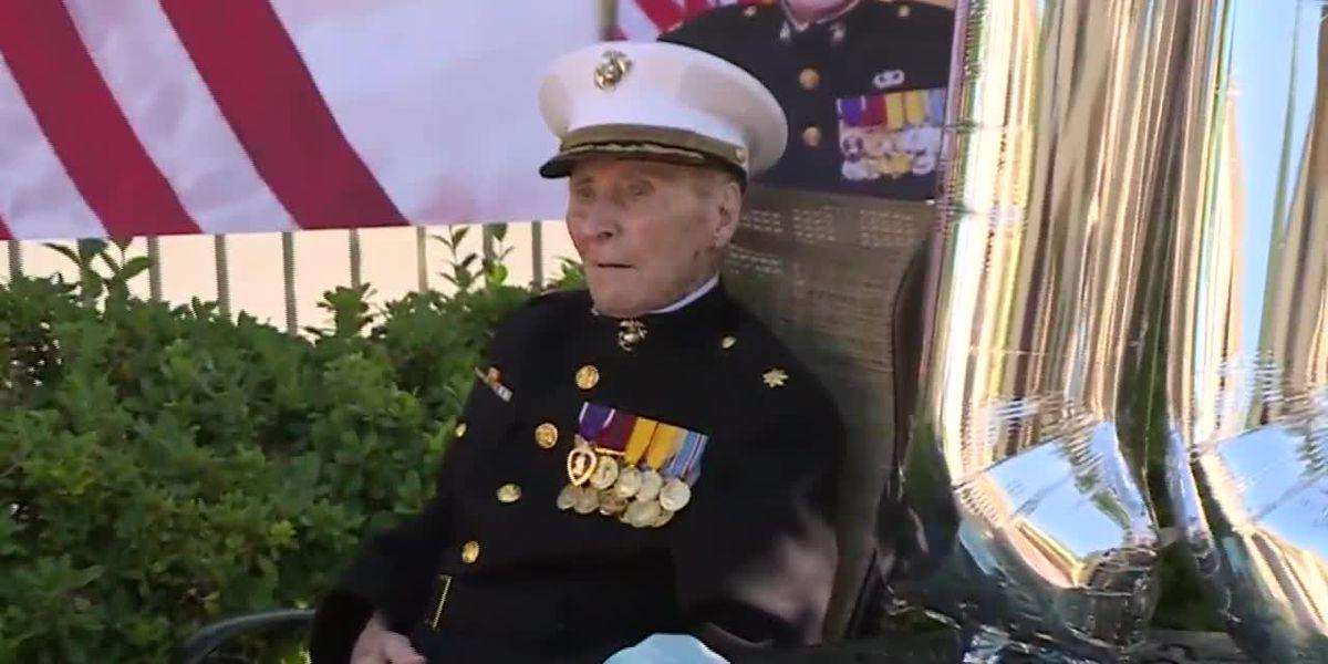 Oldest living Marine celebrates 105th birthday