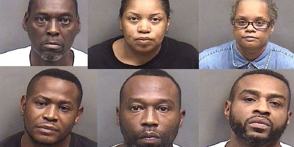 Six arrested, one at large on drug charges in Ascension Parish