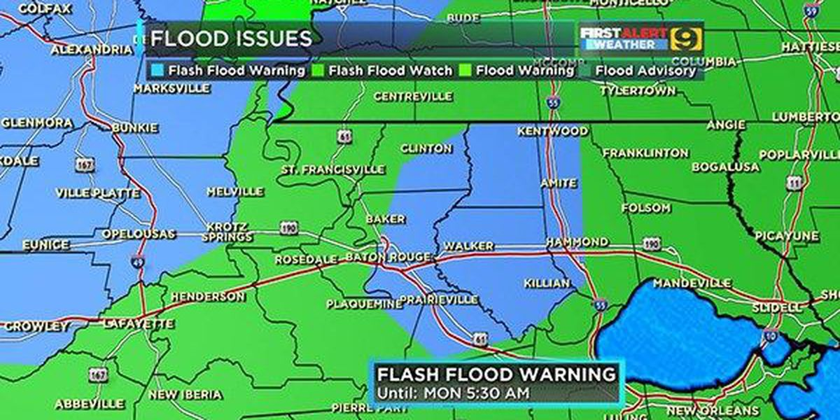 Flash Flood Warning in effect for much of WAFB viewing area